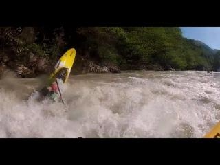 Tekhuri river Georgia, upper section, kayaks, high water