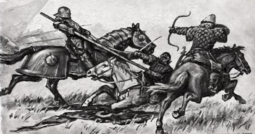 Бой конницы
