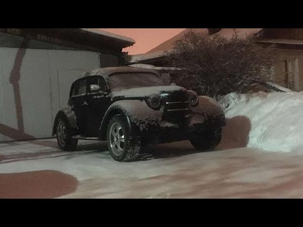 Вторая жизнь Москвич 401 собранного на базе Toyota Mark II
