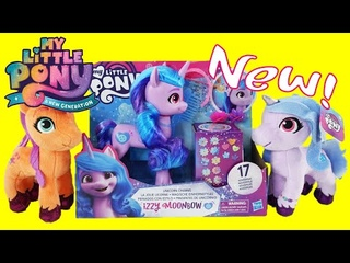 Izzy Moonbow Unicorn Charms and Sunny Izzy Plush Toys -  My Little Pony A New Generation