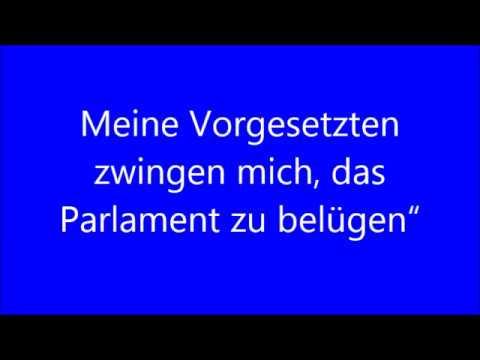 """Philosophia perennis """"Meine Vorgesetzten zwingen mich, das Parlament zu belügen"""""""