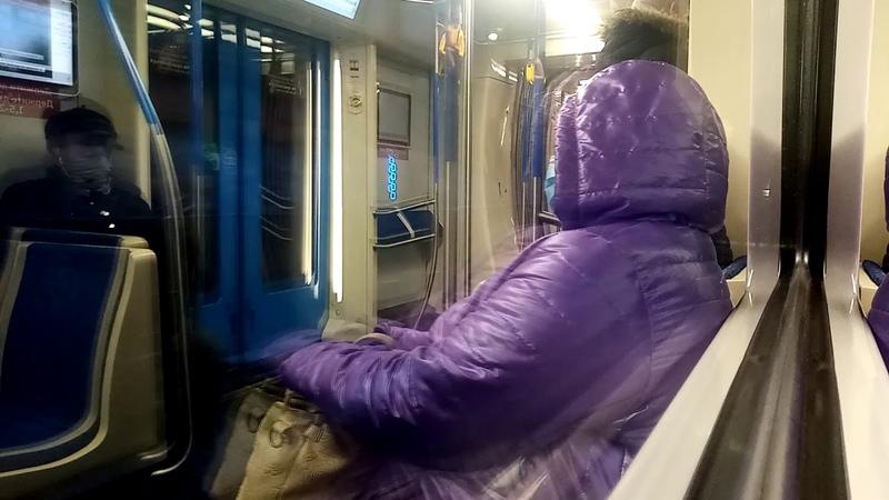 Филёвская линия Вечерняя поездка на поезде Москва Пионерская Александровский сад