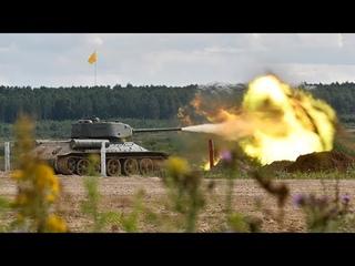 Танкисты ЗВО провели боевые стрельбы из танков Т-34