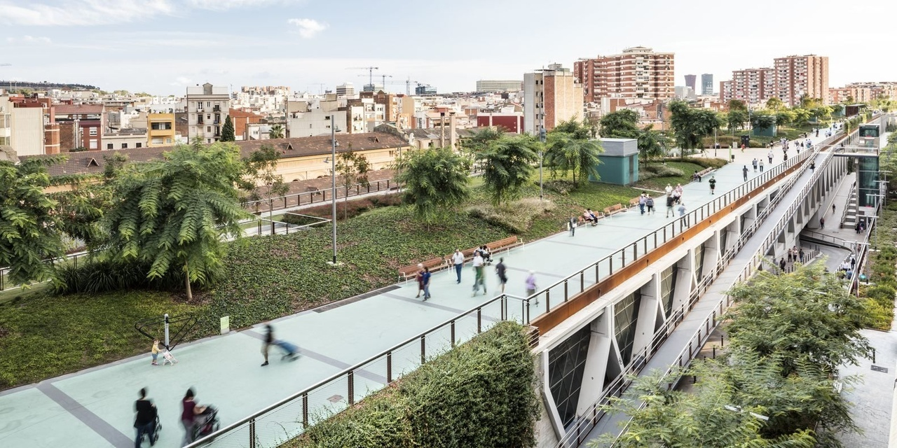 Raised Gardens of Sants in Barcelona by Sergi Godia   Ana Molino architects in Barcelona, Spain