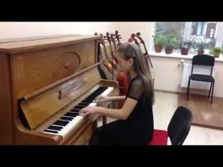 """Олександра Ільенко 5 клас  М. Мошковський """"Тарантела"""""""