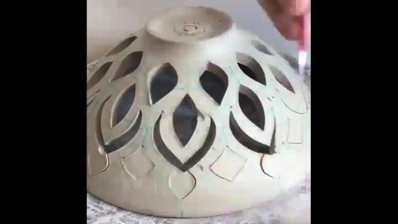 Идея декора изделий из глины