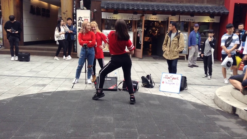 180518 MILAJOY Red Spark 레드스파크 HyunA 현아 Lip Hip cover dance 홍대 Rusian Team