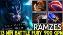 RAMZES [Phantom Assassin] Insane Farming 13 Min Battle Fury 900 GPM Dota 2