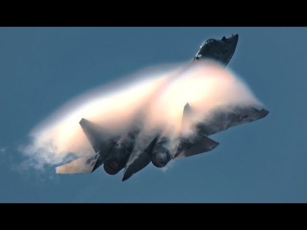 ПАК ФА Т 50 СУ 57 Эффект Прандтля Глоерта Срыв потока Высший пилотаж на авиасалоне МАКС 2019