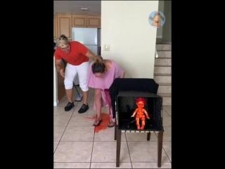 Беременная девушка пошутила над мужем....((((((