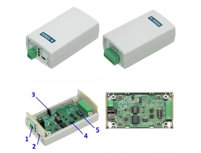 Рис.1 - Внешний вид преобразователя интерфейсов USB-RS422/RS485 RODOS-14