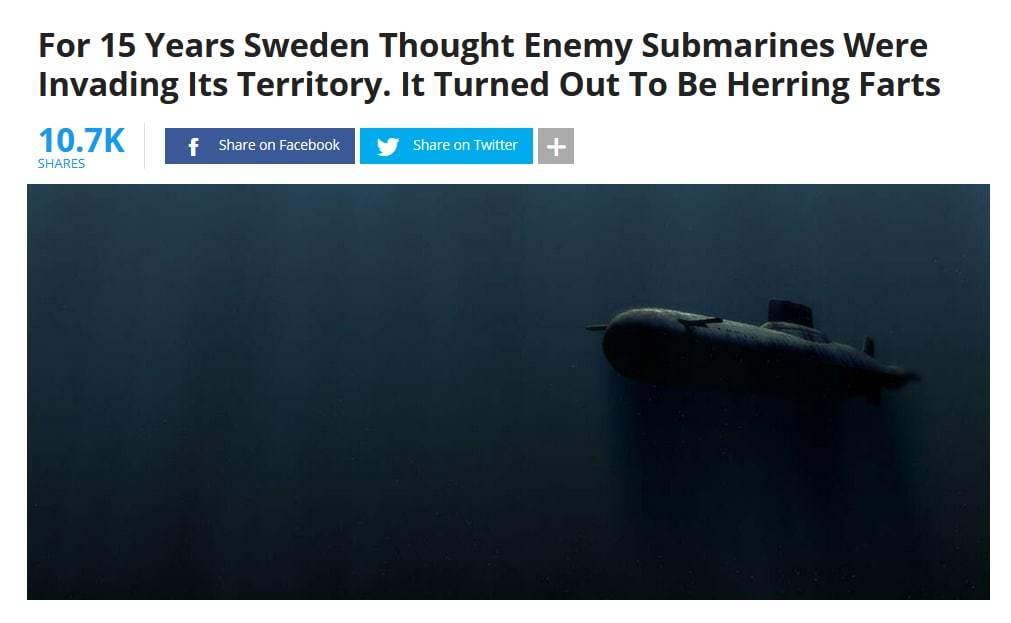 Если ты думаешь что твоя работа бесполезна вспомни о ВМС Швеции