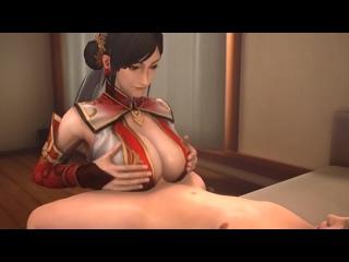 Lianshi - tittyfuck; paizuri; masturbation; 3D sex porno hentai; [Street Fighter]