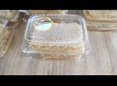 Сотовый мёд в пластиковых контейнерах