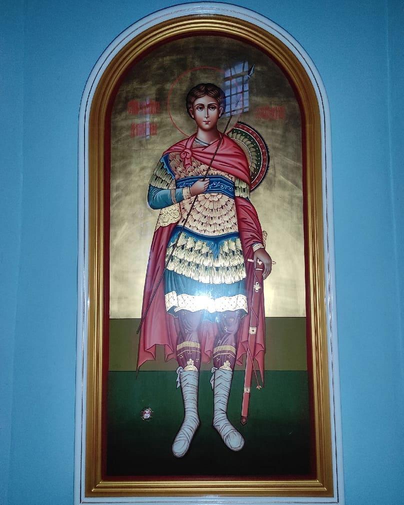 Для Покровского храма Петровска написана икона святого великомученика Димитрия Солунского