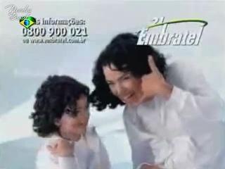 "Ана Паула Арозиу и Рафаэла Ромулу в рекламе ""Embratel"""