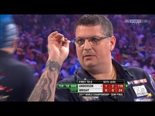 Gary Anderson vs Peter Wright (PDC World Darts Championship 2017 / Semi Final)
