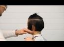 Короткая женская стрижка с удлиненной челкой Мастер класс