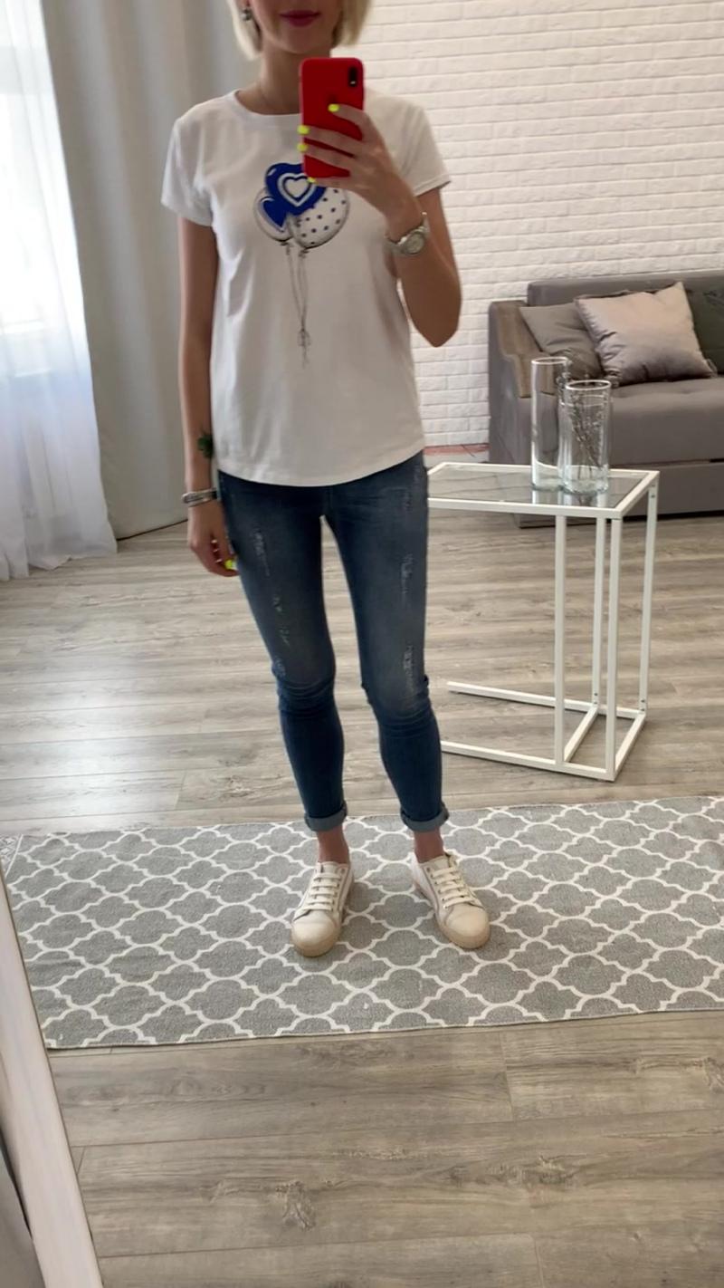 🤤💙футболка с синими шарами & джинсики ✔️Италия 🇮🇹