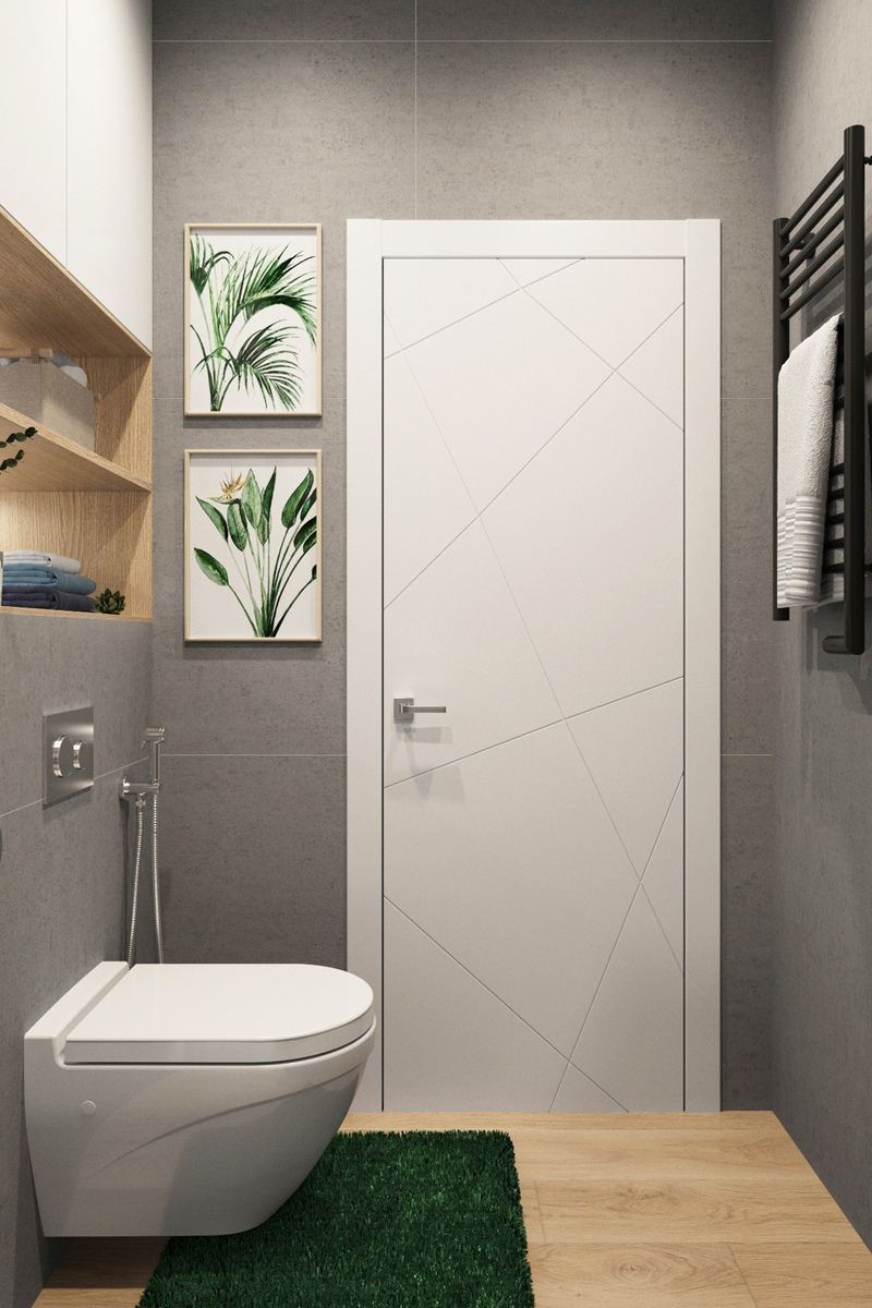 Концепт маленькой квартиры 20 м (с лоджией - 24 м) в скандинавском стиле для заказчика-женщины.