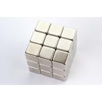Неодимовый магнит 10х10х10 мм, N38, никель, блок