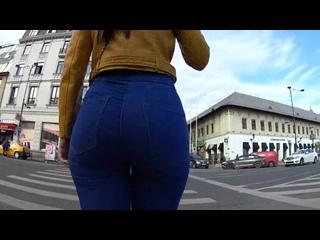 ШИКАРНАЯ ПОПКА В ДЖИНСАХ _ SUPER GIRL ASS _ TIGHT JEANS_ OVERSEE _ PHOTOHUNTER _