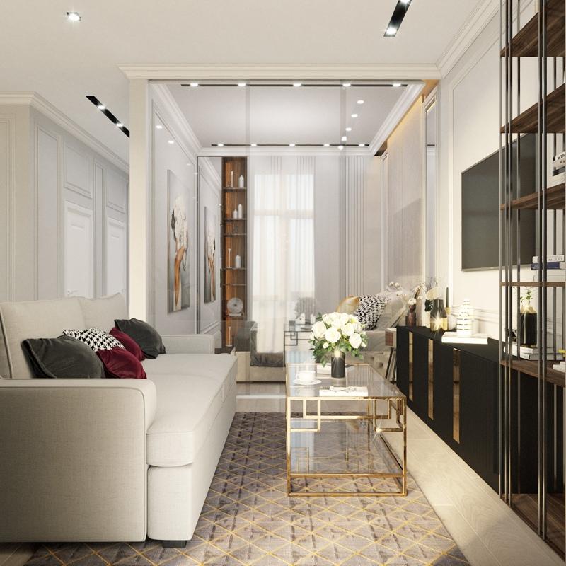 Проект квартиры свободной планировки 41 м.