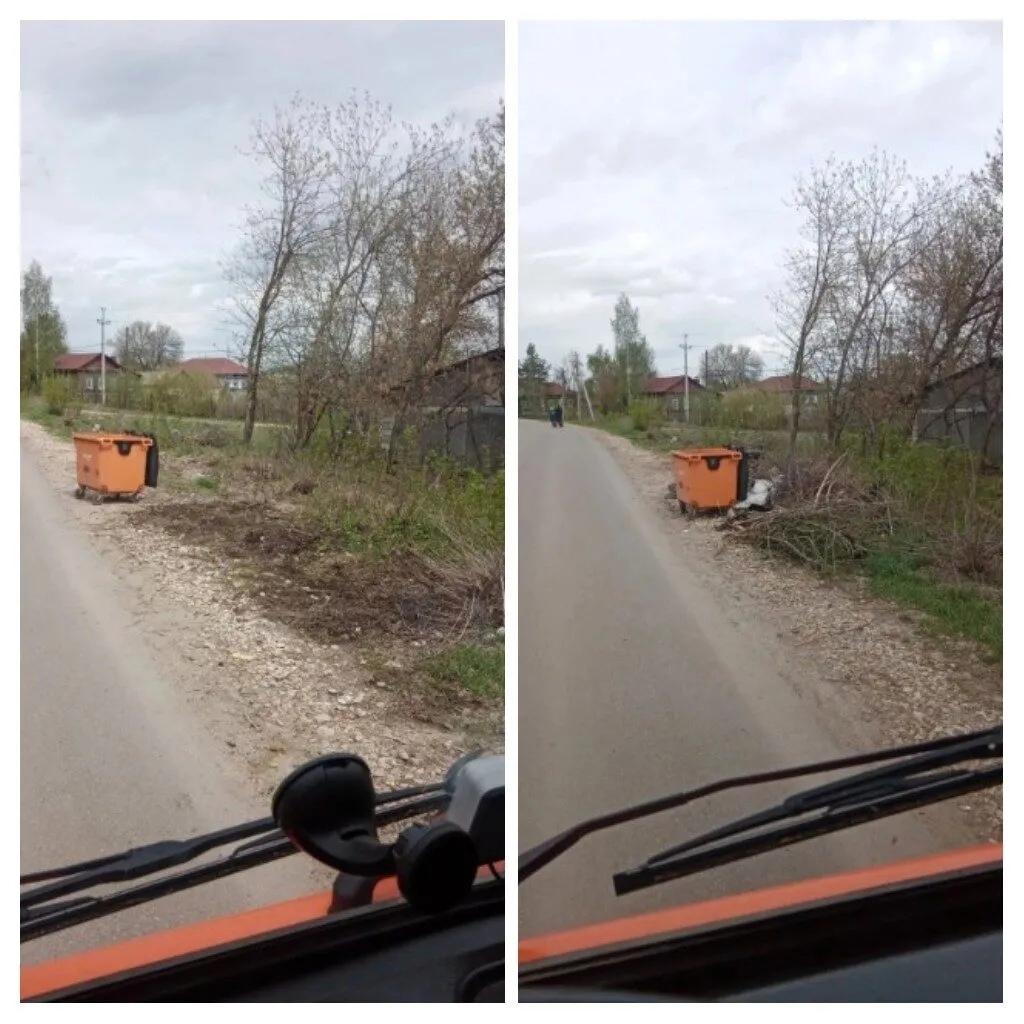 В Петровске продолжаются работы по ликвидации стихийных свалок около мусорных контейнеров