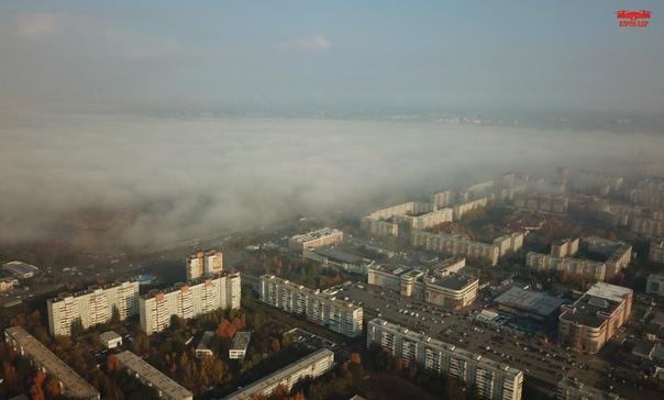 Омск. Осень. Туман 🌞🍂🍁Фото: [club54707173|Аэрокадр]...