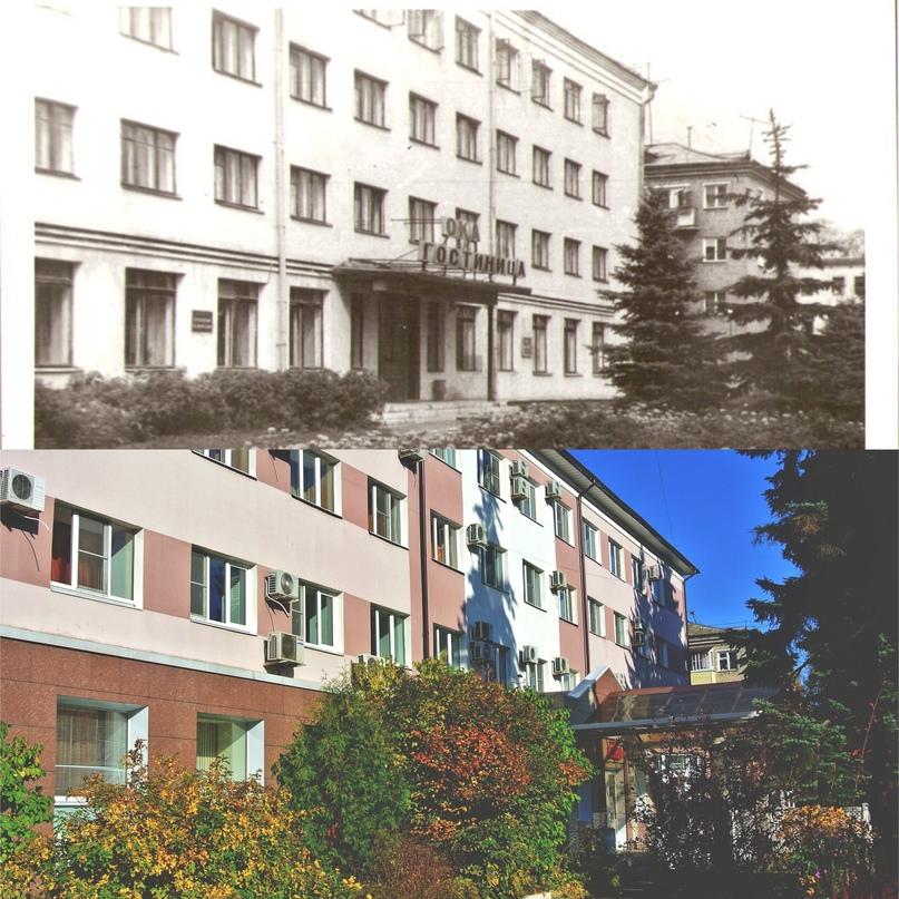 Гостиница «Ока» 70-е — начало 80-х гг. / Гостиница «Лада» 2020 г.
