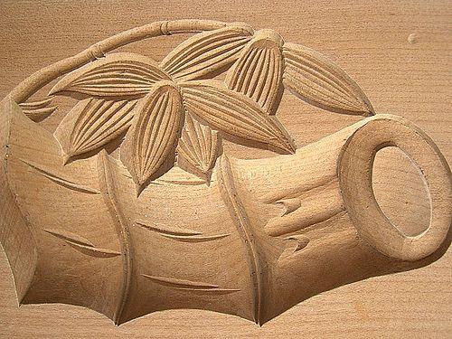 Японские деревянные резные формы Кашигата, изображение №16