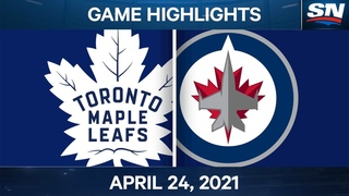 NHL Game Highlights | Maple Leafs vs. Jets – Apr. 24, 2021