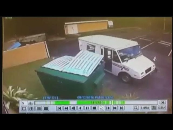 Mail carrier makes dumpster delivery in Lee Co