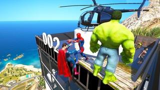 GTA 5 Water Ragdolls SPIDERMAN VS SUPERHEROES (Euphoria Physics Fails & Funny Moments)