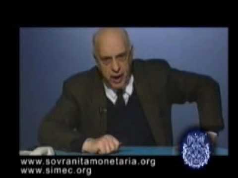 Giacinto Auriti - Attuale Condizione Democratica, Società Organica, Truffa, Usura