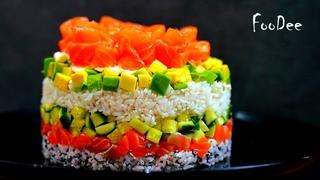 Салат Филадельфия или Ленивые суши - очень вкусный салат на праздничный стол