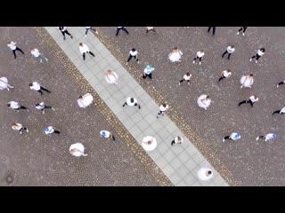 Флешмоб на социальной дистанции в Петербурге