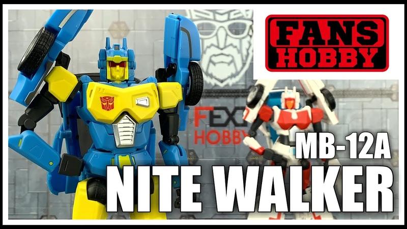 Fans Hobby MB 12A NITE WALKER Transformers Masterpiece Headmaster Nightbeat Review