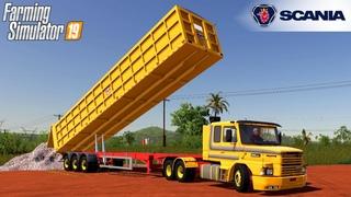 Farming Simulator 19 - SCANIA T SERIE 2 BRAZIL Truck Unloads Crushed Stone Into A Pit