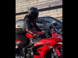 нам пиzdec😷 #мотоТаня девушка на красном мотоцикле
