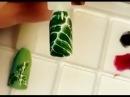 Юлия Билей Листья на ногтях Julia Biley Leaves Nail Art Periscope