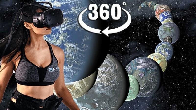 VR 360 Космическое путешествие в инопланетные миры со скоростью выше скорости света через червоточины для виртуальной реальности