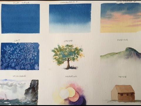 9 важных техник в акварели 9 very important techniques in watercolor