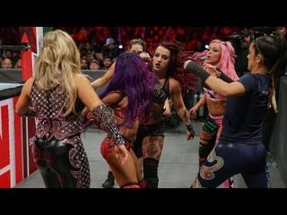 videorubyriottdaily RAW 22.10.18 Sasha Banks (w/Bayley Natalya) vs. Ruby Riott (w/Liv Morgan Sarah Logan) - FULL