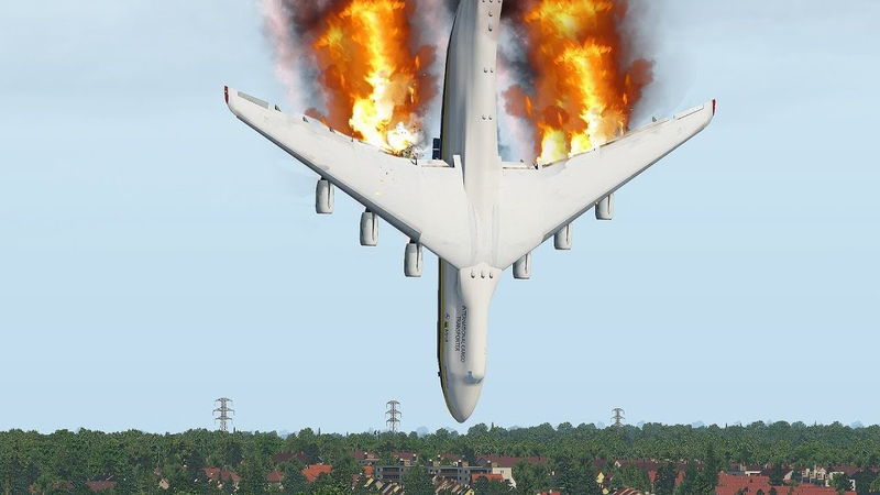 World's Biggest Plane An 225 Crashes Immediately After Take Off XPlane 11