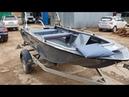 Лодка Swimmer 370XL с ходовым тентом, столиком, транцевыми колесами и доп. карманами!