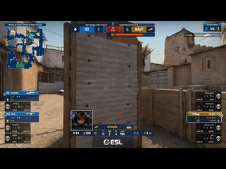 s1mple clutch 1v3 against G2 on Dust 2 | IEM Cologne 2021 | Grandfinal