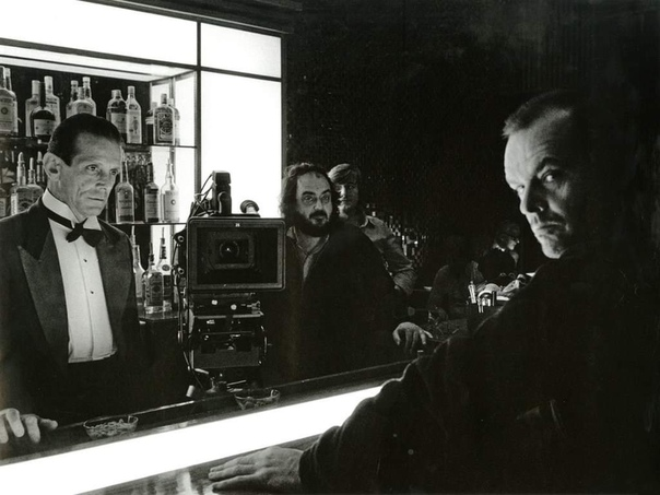 Джек Николсон и Стэнли Кубрик на съемках «Сияния», 1978 год