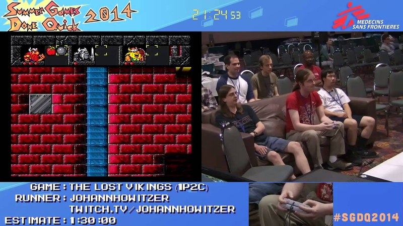 SGDQ 2014 The Lost Vikings 1P2C Speed Run in 0 57 42 by johannhowitzer SGDQ2014