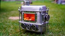 Homemade Mini Wood Stove for Camping - Rear Secondary Air Intake Hot Tent Stove - MX-Stove Project